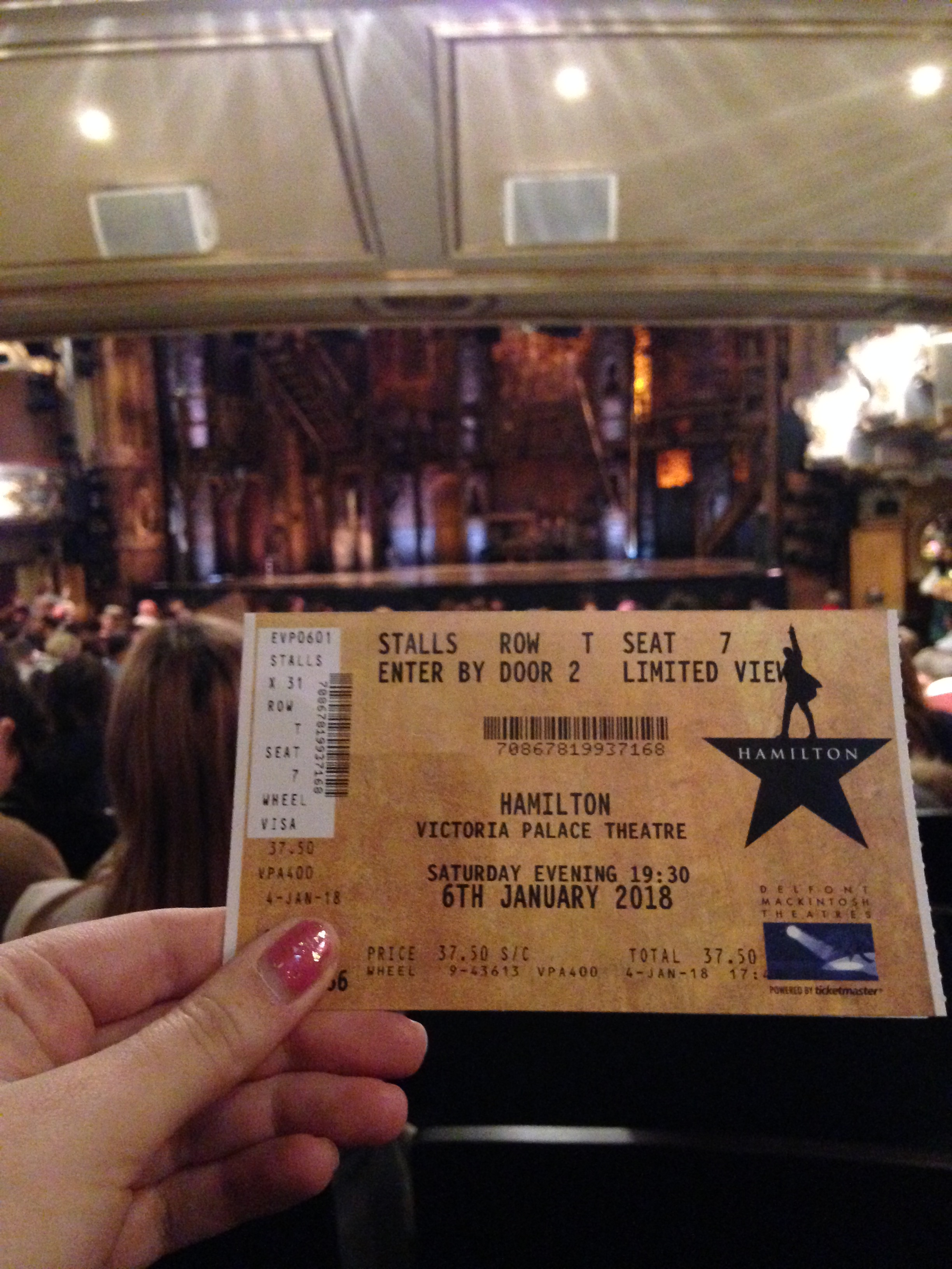 Sale My Phone >> ACCESS REVIEW: Victoria Palace Theatre (Hamilton) UPDATED 30/03/2018 | Nina Childish